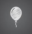 Balloon sketch logo doodle icon