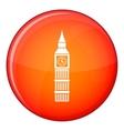Big Ben clock icon flat style vector image vector image