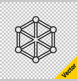 black line blockchain technology icon isolated on vector image vector image