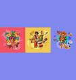 brazil carnival design concept vector image vector image