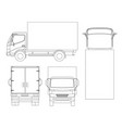 cargo truck transportation on outline fast vector image