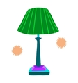 Cartoon lamp flat icon vector image vector image
