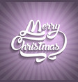 christmas greeting card text merry christmas vector image vector image