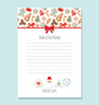 christmas letter from santa claus template a4 vector image vector image
