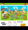 counting cats and dogs educational game vector image vector image