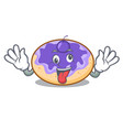 crazy donut blueberry mascot cartoon vector image vector image