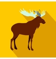 Deer icon flat style vector image vector image