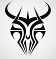 Demon Mask Tribal vector image vector image