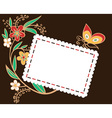 envelope for holiday with flowers vector image vector image