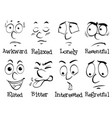 facial expressions with words vector image vector image