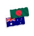 flags australia and bangladesh on a white