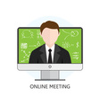 Flat design Colorful Concept for Online Meeting vector image vector image