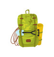 flat icon of big camouflage backpack with vector image