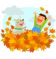 fun of autumn vector image vector image