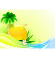 funky summer vector image vector image