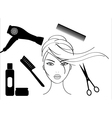 hairdressing salon vector image vector image