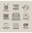 Handmade line vintage logo set vector image vector image