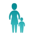 happy family members silhouette vector image vector image