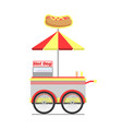 hot dog cart for street food vector image vector image