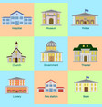 icons set colorful public vector image