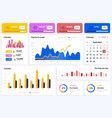 interface elements dashboard statistic and vector image vector image