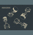 internal combustion engine pistons vector image vector image