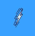 isometric flash sign isolated on blue background vector image