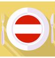 kitchen of Austria vector image vector image
