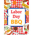 labor day bbq vector image vector image