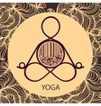 Logo template of yoga pose vector image vector image