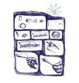 marijuana joint preparing vector image