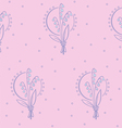 May lily pattern vector image