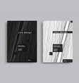 minimal covers with black and white wavy lines vector image vector image