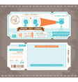 Movie Ticket Wedding Invitation Design Template vector image vector image