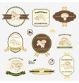 Mushrooms set of label design vector image vector image