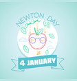 newton day january 4 vector image vector image