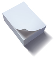 Paper stack with curl vector image vector image