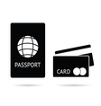 passport and card vector image