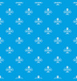passport pattern seamless blue vector image vector image