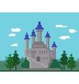 Pixel Landscape With Castle vector image vector image