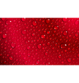 Red background of water drops vector image vector image