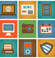 Retro social media icons for design vector | Price: 1 Credit (USD $1)
