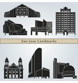 San Jose landmarks and monuments vector image