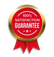 satisfaction guaranteed badge vector image vector image
