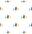 scandinavian seamless pattern of christmas tree vector image