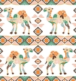 Seamless camel pattern made from flowers leaves vector image