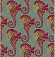 seamless pattern seahorses vector image vector image