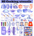 set great culinary supplies and utensils for vector image vector image