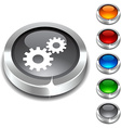 Settings 3d button vector image vector image