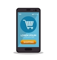 shopping cart online smartphone virtual app vector image